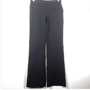 Splits 59 Small Flare Pants Solid Black Stretchy